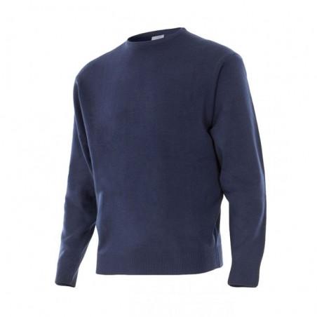 Round Neck Knit Sweatshirt