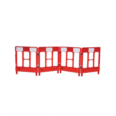 Set 4 Workgate Red Reflective Gates